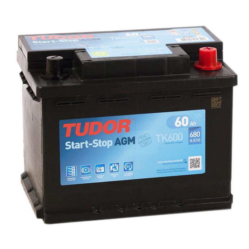 TUDOR Batterie Start-stop AGM TUDOR TK600 12V 60Ah 680A